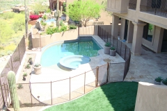 Desert-bronze-pool-safety-fence